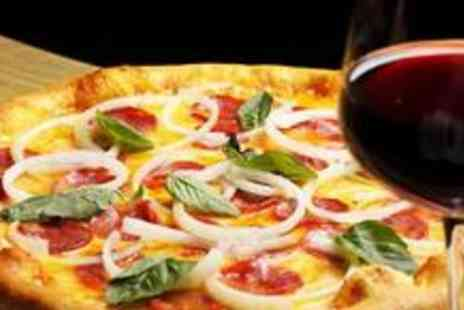 Molly Malones - Two pizzas or burgers with a bottle of wine - Save 96%