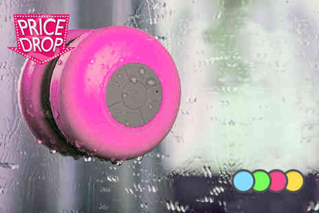 Chimp Electronics - Water resistant Bluetooth shower speaker with microphone   - Save 71%