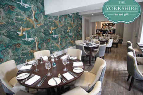 The Yorkshire Bar & Grill - Three Course Sunday Lunch with Wine for Two - Save 51%