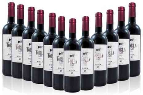Monte regio - 12 Bottles of Torla Rioja Crianza Wine With Free Delivery - Save 55%