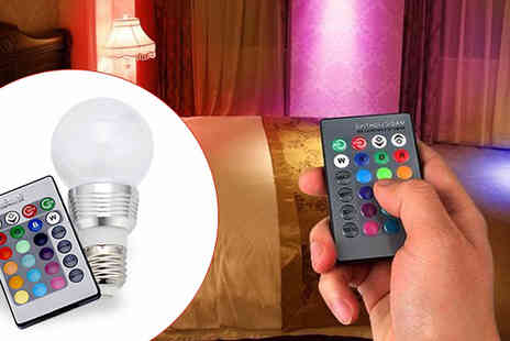 Cappie International - Colour Changing LED Bulbs - Save 76%