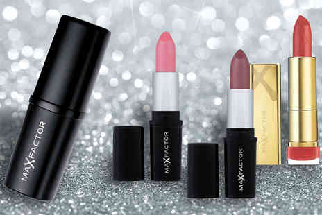 The Beauty Retreat - Max Factor 4 Lipsticks or 5 Eyeshadows - Save 50%