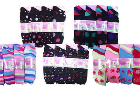 Giftright - 12 Pairs of Ladies Socks - Save 80%