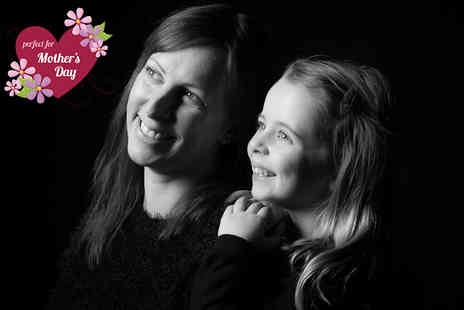 "Memories Portrait Photographers -  Mothers Day photoshoot, five 8"" x 10"" prints and a £100 voucher towards a digital file  - Save 95%"