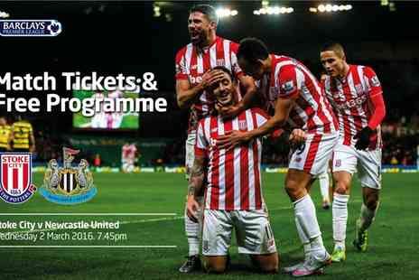 Stoke City Football Club - Barclays Premier League Stoke City v Newcastle Tickets Plus Free Programme - Save 0%