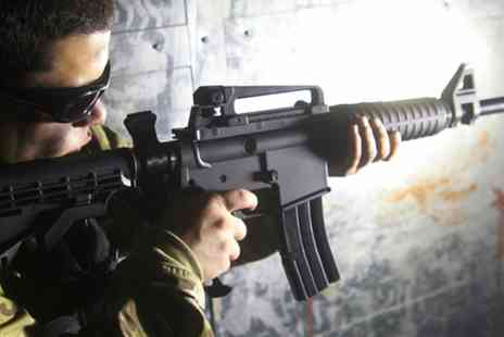 iCombat Bournemouth - 90 Minute Laser Combat Session for One, Two or 12 People  - Save 65%