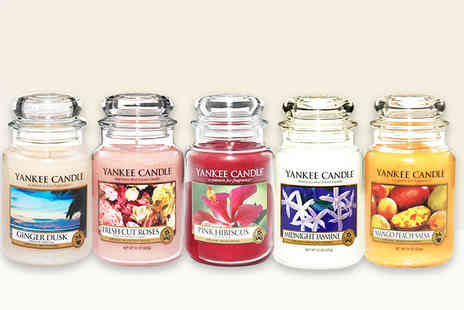 The Plant and Shrub Centre  -  22oz scented Yankee Candle jar   - Save 44%