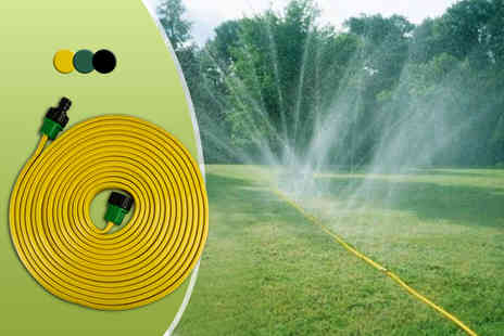 Urshu - Seven metre flat sprinkler hose with connectors  - Save 80%