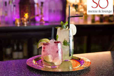 So Mezze and Lounge - Karaoke Room Hire with Cocktails for 12 - Save 64%