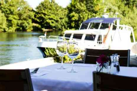 the Riverside Brasserie  Bray - Three Course Meal and Champagne Cocktail for Two  - Save 0%