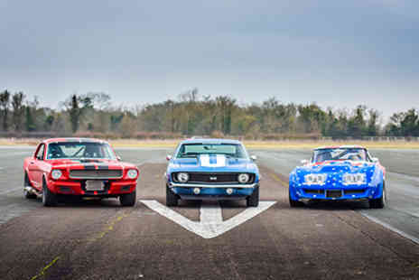 American Muscle - Triple American Muscle Car Blast plus High Speed Passenger Ride - Save 0%