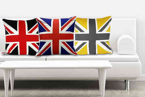 "ADAM LINENS - 18"" x 18"" Union Jack cushion cover  - Save 65%"