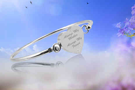 British Gem - Always My Mother, Always My Friend heart bangle - Save 67%