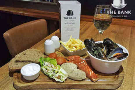 The Bank - Sharing Platter with Cocktail Each for Two - Save 58%