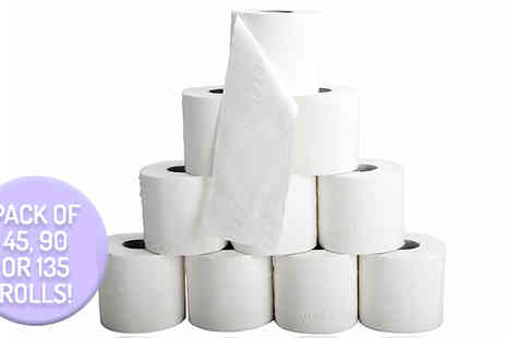 Smart Distribution - 45 Three Ply Toilet Rolls - Save 58%