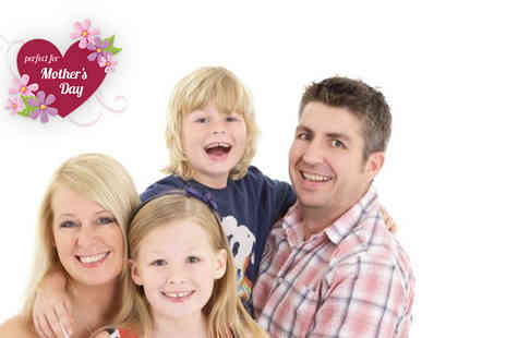 Wink Photography -  Mothers Day family photoshoot for up to 15 including flowers, chocolates and four prints   - Save 94%