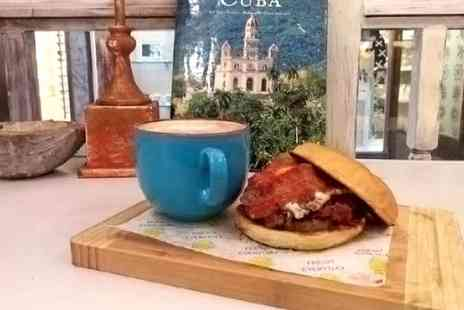 Cuban Sandwich Factory - Cuban Cooked Breakfast with Tea or Coffee  - Save 57%