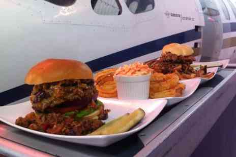 Hangar Number 4 - Gourmet Burger and Fries for Two or Four  - Save 52%