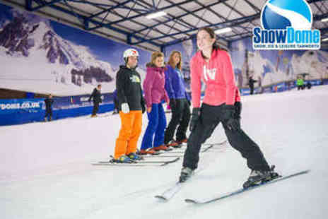 SnowDome  - Beginner Ski or Snowboard Lesson - Save 44%