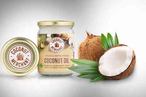 Coconut Merchant -   500ml jar of organic raw extra virgin coconut oil  - Save 50%