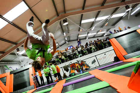 Bounce Central - One hour indoor trampolining session  - Save 41%