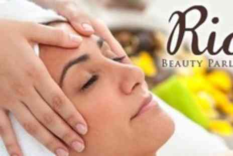 RIA Beauty Parlour - Choice of Facial Plus Oriental Head Massage and Manicure - Save 68%
