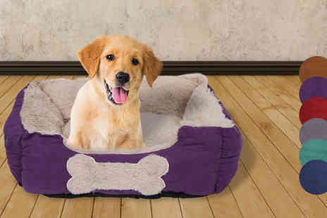 Gorgeous Selection - Fleece Lined Pet Bed Six Colours - Save 60%