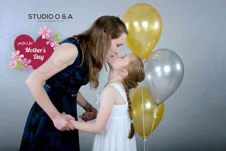 "Studio O & A - One hour professional mother and daughter photoshoot for up to four including a photo mug and two 7"" x 5"" prints   - Save 85%"