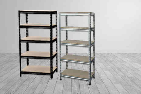 Shop Monk - Five tier boltless storage shelf unit - Save 86%