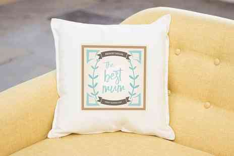 Prints With Feelings - Personalised Mothers Day Cushion Cover With Inner - Save 77%