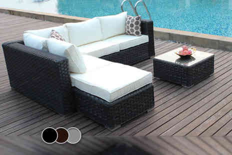 Dreams Living - Five piece rattan Papaver outdoor furniture set in a choice of three colours - Save 61%