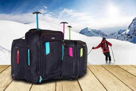 SA Products - Cabin approved wheelie hand luggage holdall - Save 63%