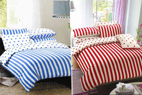 ADAM LINENS - Single, Double or king Size reversible duvet set  - Save 66%