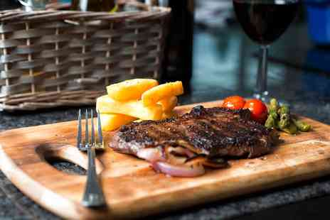 Hotel Capos - Steak with Wine or Beer for Two or Four  - Save 48%