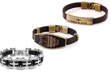 Groupon Goods Global GmbH - Mens Bracelet In Choice Of Style  - Save 82%