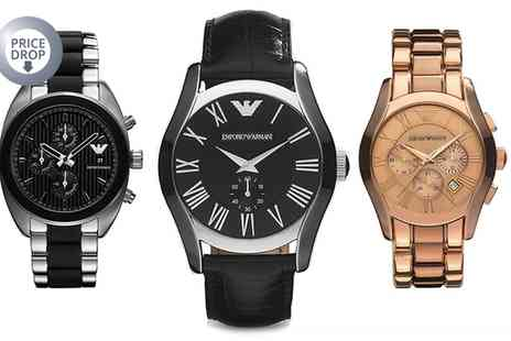 Outlet Perfumes - Emporio Armani Mens Watch in Choice of Design With Free Delivery  - Save 73%