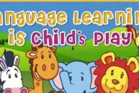 Kids Learn Languages - French or Spanish language Book, DVD and CD for young children - Save 50%