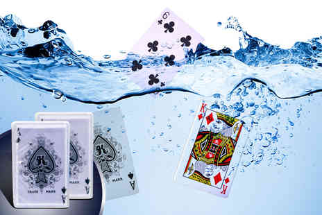 Urshu - Two packs of waterproof playing cards - Save 75%