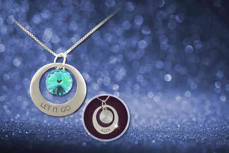 Cian Jewels -  Frozen inspired personalised Let It Go necklace made with Swarovski Elements - Save 82%