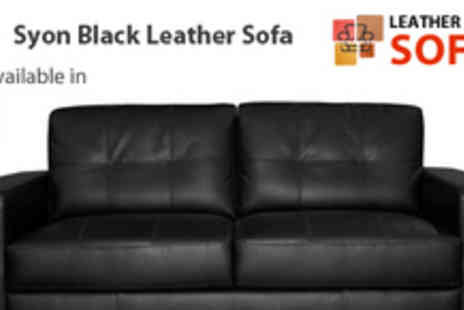 Leather Fabric Sofas - Syon Leather Sofa for 2 Seater - Save 59%