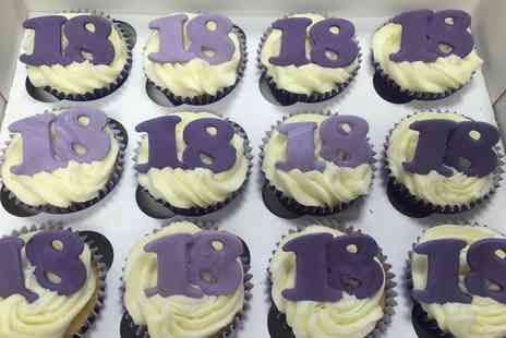 Bakey Cakey - Box of 12 Personalised Cupcakes - Save 80%