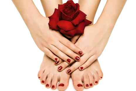 Bella Dama - Shellac Manicure or Pedicure or Both  - Save 54%