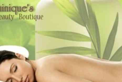 Dominiques Beauty Boutique  - Face, Neck, Chest and Back Massage - Save 56%