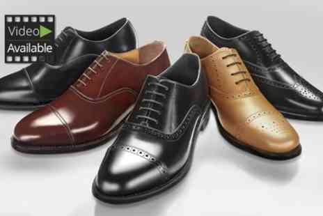SW Shoes - Samuel Windsor Mens Handmade Leather Shoes One Pair or Two Pairs - Save 70%