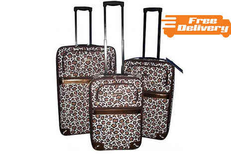 HomeStore Direct - Three Piece Leopard Print Luggage Set - Save 51%