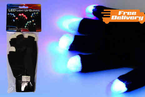 Funky Monkey Gift Shop - One, Two or Three Pairs of LED Light Up Gloves - Save 60%