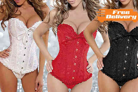 Bonicaro Design - Embroidered Corset with Matching G String - Save 67%