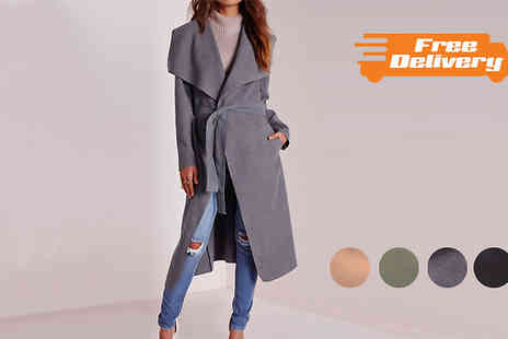 Bonicaro Design - Waterfall Cashmere Feel Coat in 4 Colours - Save 78%