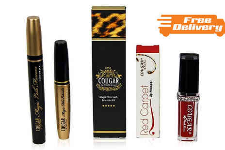Cougar Beauty Products - Lip Plumper and Fibre Lash Extender Set - Save 78%