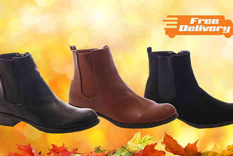 Solewish - Womens Chelsea Boots  in 3 Styles - Save 77%